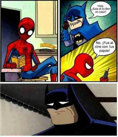 chiste de batman y spiderman