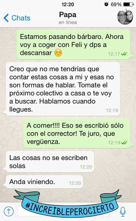 fail con el papa whatsapp