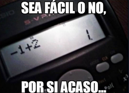 sea facil o no por si acaso examen calculadora