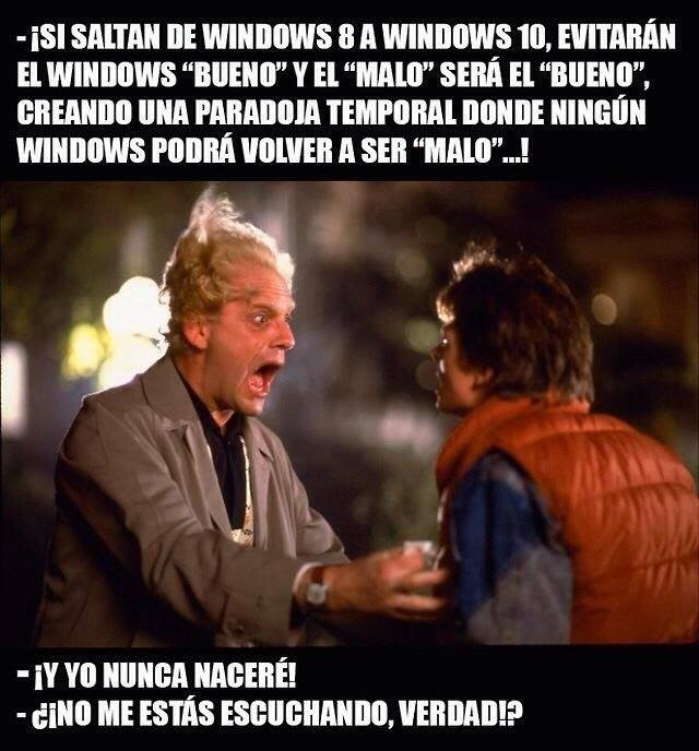 si saltan del windows 8 al 10